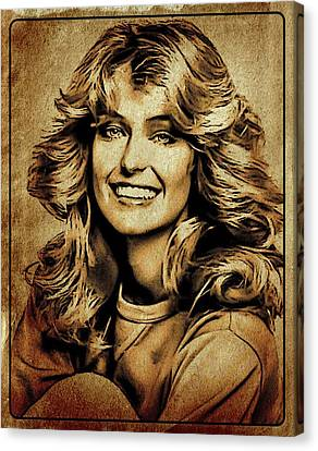Farrah Fawcett Hollywood Actress Canvas Print by Esoterica Art Agency