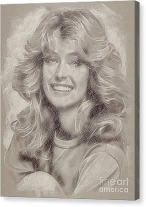 Hepburn Canvas Print - Farrah Fawcett Hollywood Actress by Frank Falcon