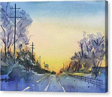 Farraway Farms Winter Canvas Print by Spencer Meagher