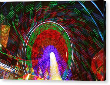 Farris Wheel Crazy Light Abstract Canvas Print by James BO  Insogna