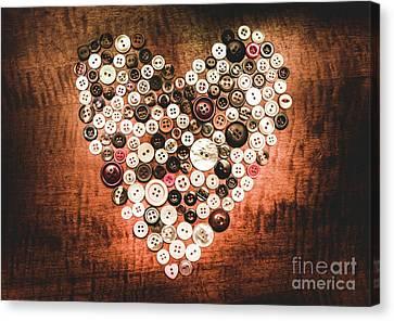 Dressmaker Canvas Print - Fashion Button Love by Jorgo Photography - Wall Art Gallery