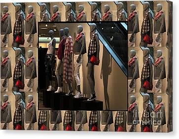 Canvas Print featuring the photograph Fashion Couture Parade Showroom Tshirts Pillows Towels Curtains Christmas Holidays Festival Birthday by Navin Joshi