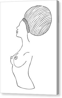 Fashion Drawing Canvas Print by Frank Tschakert