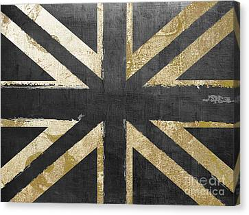 Fashion Flag United Kingdom Canvas Print by Mindy Sommers