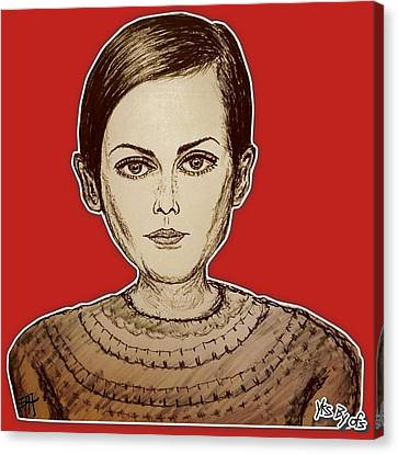 Fashion Icon - Twiggy Canvas Print by Yks By Ofs