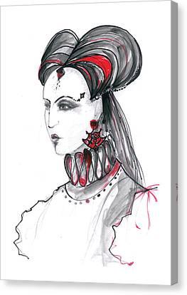 Fashion Illustration In Watercolor Canvas Print