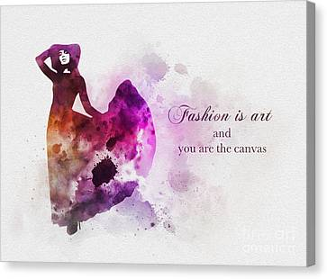 Fashion Is Art Canvas Print