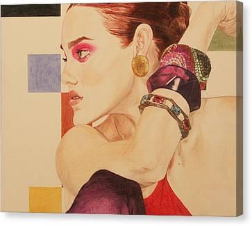 Fashion Model Canvas Print