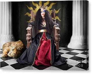 Fashion Queen In Crown Sitting In Jester Court Canvas Print by Jorgo Photography - Wall Art Gallery