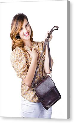 Fashionable Woman With Hand Bag Canvas Print by Jorgo Photography - Wall Art Gallery