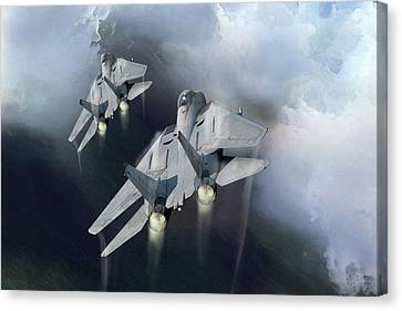 Storm Canvas Print - Fast Cats by Peter Chilelli