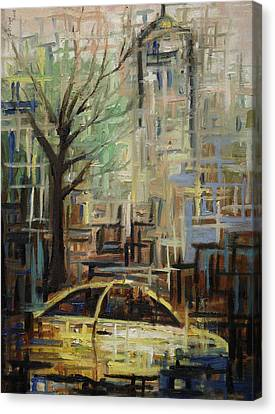 Fast City II Canvas Print by Janel Bragg