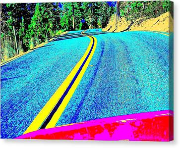 Canvas Print featuring the photograph Fast Ferrari Above Tahoe by Don Struke