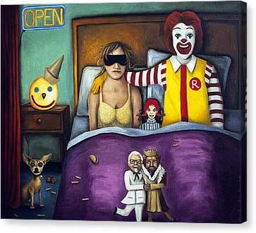 Fast Food Nightmare Canvas Print by Leah Saulnier The Painting Maniac