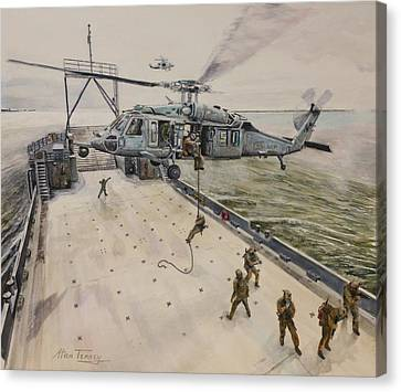 Fast Rope Canvas Print by Stan Tenney