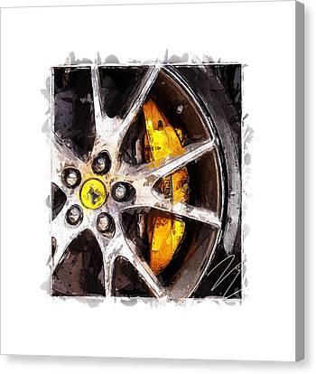 Break Fast Canvas Print - Fast,faster,ferrari by Steve K