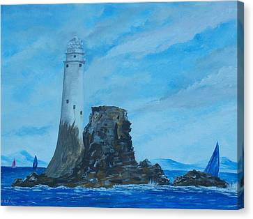 Fastnet Rock Lighthouse. Canvas Print