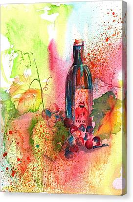 Fat Cat Wine Canvas Print by Sharon Mick
