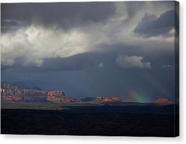 Canvas Print featuring the photograph Fat Ground Rainbow, Red Rocks Sedona by Ron Chilston