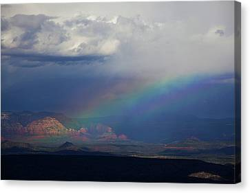 Canvas Print featuring the photograph Fat Rainbow, Sedona Az by Ron Chilston
