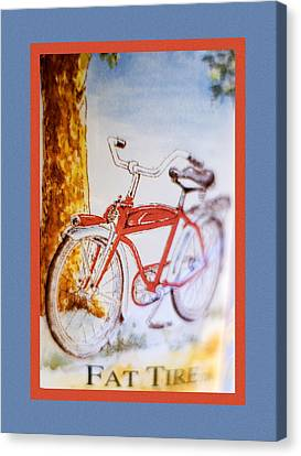 Fat Tire Ale Canvas Print by Carol Leigh