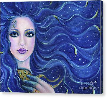 Fatal Beauty Mermaid Art Canvas Print by Renee Lavoie