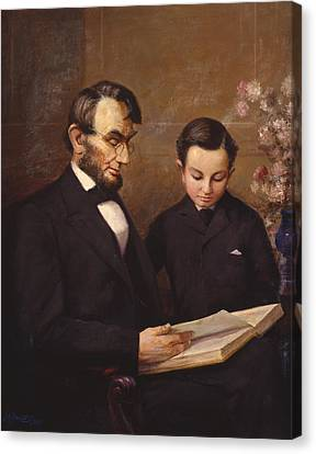 Father And Son Canvas Print by Lewis A Ramsey