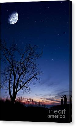 Father And Son Moment Canvas Print by Joe Gee