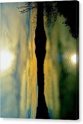 Father And Son Reflecting Canvas Print