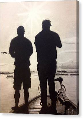 Father And Son Canvas Print by Tony Holm