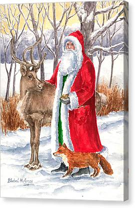 Father Christmas Canvas Print by Barbel Amos