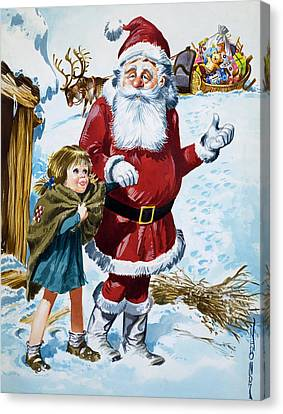 Father Christmas Canvas Print by Jose Ortiz