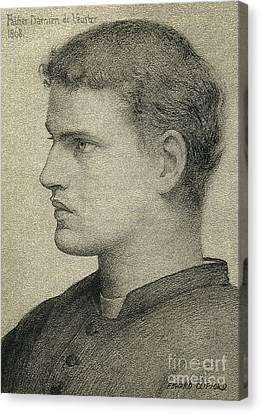 Father Damien De Veuster Canvas Print by James Temple