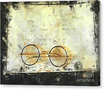 Canvas Print featuring the photograph Father's Glasses by Claire Bull