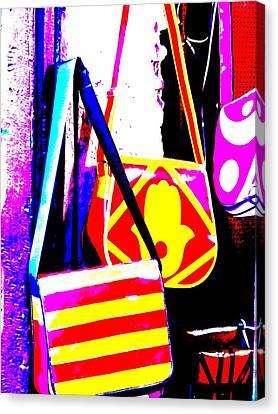 Fatima Bags In Marrakech Canvas Print by Funkpix Photo Hunter
