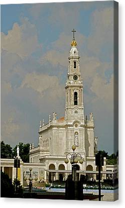 Canvas Print featuring the photograph Fatima Cathedral by Kirsten Giving