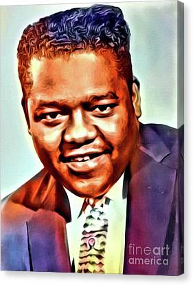 Fats Domino, Music Legend. Digital Art By Mb Canvas Print by Mary Bassett