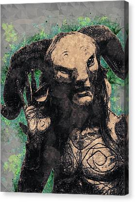 Modern Digital Art Digital Art Canvas Print - Faun - Pan's Labyrinth  by Studio Grafiikka