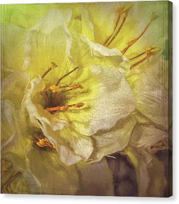 Canvas Print featuring the photograph Faux Flowers by Lewis Mann