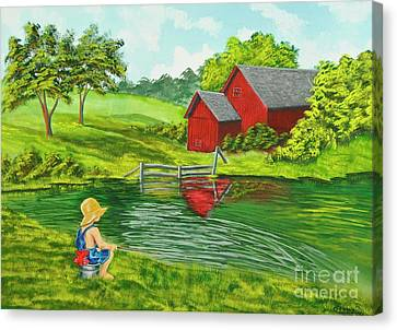 Favorite Fishing Hole Canvas Print by Charlotte Blanchard