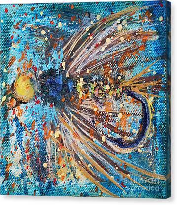 Favorite Flies 1 Canvas Print by Jodi Monahan