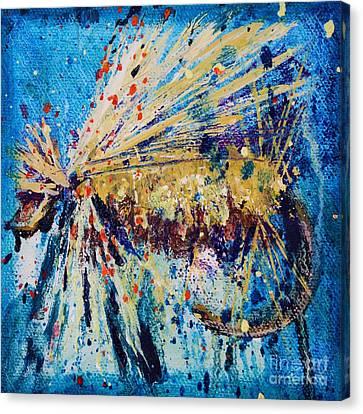 Favorite Flies 3 Canvas Print by Jodi Monahan