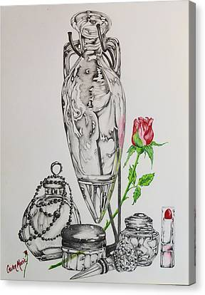 Decanters Canvas Print - Favorite Things by Gwen Rose