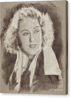 Fay Wray, Vintage Hollywood Actress Canvas Print by John Springfield