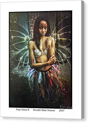 Faye Dona II Canvas Print by Donald Yenson
