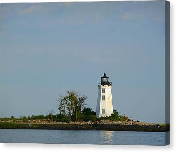 Canvas Print featuring the photograph Fayerweather Lighthouse by Margie Avellino