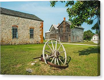 Fayette Wagon Wheel Canvas Print by Paul Freidlund