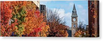 University Of Arkansas Canvas Print - Fayetteville Arkansas Fall Color Cityscape Panorama by Gregory Ballos