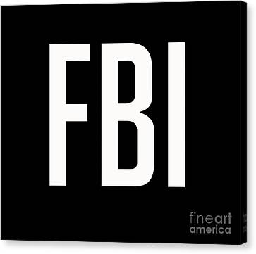 Fbi Tee Canvas Print by Edward Fielding