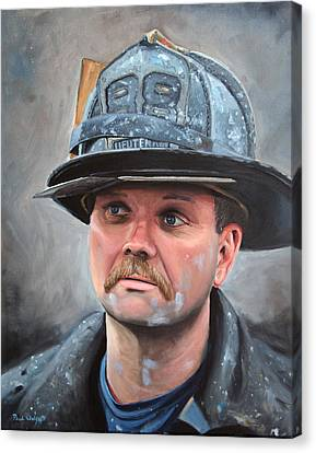 Fdny Lieutenant Canvas Print by Paul Walsh